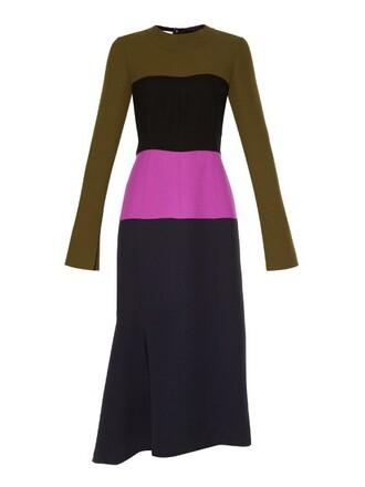 dress long brown