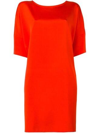 dress short dress loose short women spandex fit silk yellow orange