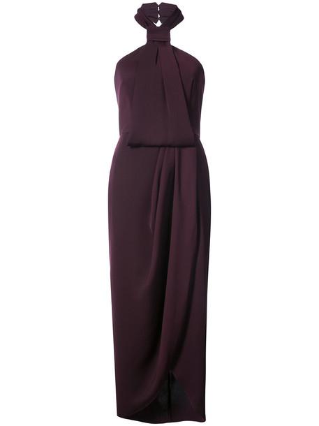 Shona Joy dress women draped purple pink