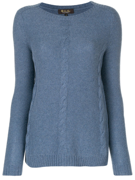 Loro Piana jumper women blue sweater