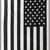 American Flag Black and White Hippie Ethnic Bohemian Psychedelic Handmade Tapestry