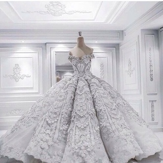 dress princess dress white grey wedding winter outfits wonderland snow quinceanera gown silver gown ball gown dress beautiful wedding dress queen girly floral dress