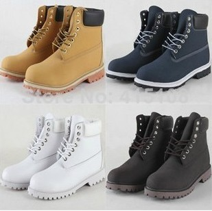 2014 Unisex Fashion leather timber Boots Winter Boots lands Men/women all Genuine Leather Warm Leisure Martin Boots -in Boots from Shoes on Aliexpress.com