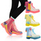 Womens ladies flat clear festival jelly wellies low ankle rain boots shoes size | ebay