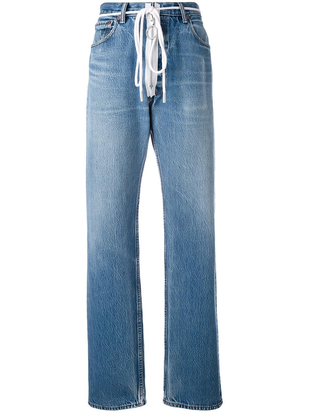 405ccdea Off-White Zip Detail Levi Jeans - Farfetch