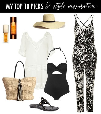 dailystylefinds blogger blouse bag shirt dress summer outfits jumpsuit sun hat beach bag sandals swimwear