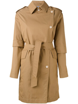 coat trench coat women cotton brown