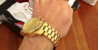jewels gold watch kayne west jay z bling gold watch bling watch