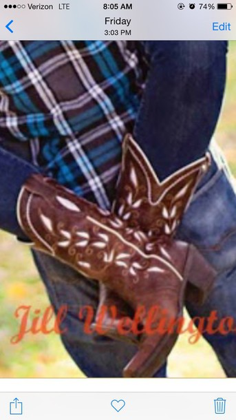 shoes brown cowboy boots