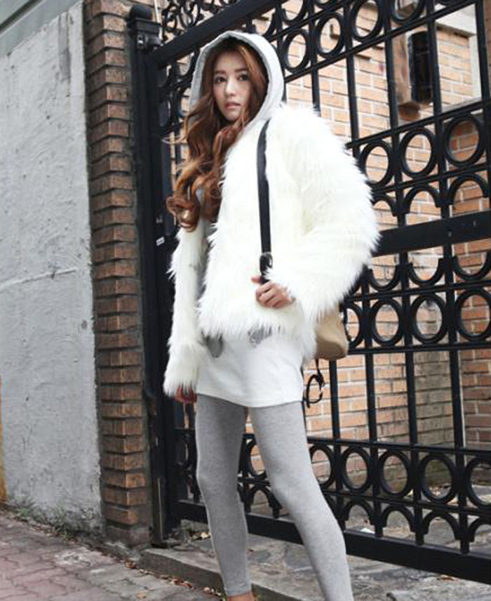 New fashion long hair jacket (s/m/l/xl) 6 colors trend faux fur coat