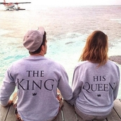 blouse,couple sweaters,couples shirts,king queen shirts,pullover,top,shirt