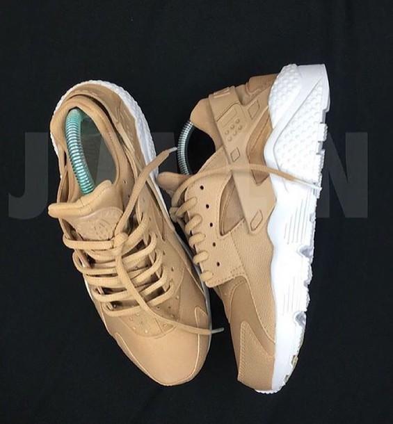 the best attitude 465d8 6e799 shoes huarache trainers nude nike nike shoes nike sneakers white haurache  shoes beige sneakers