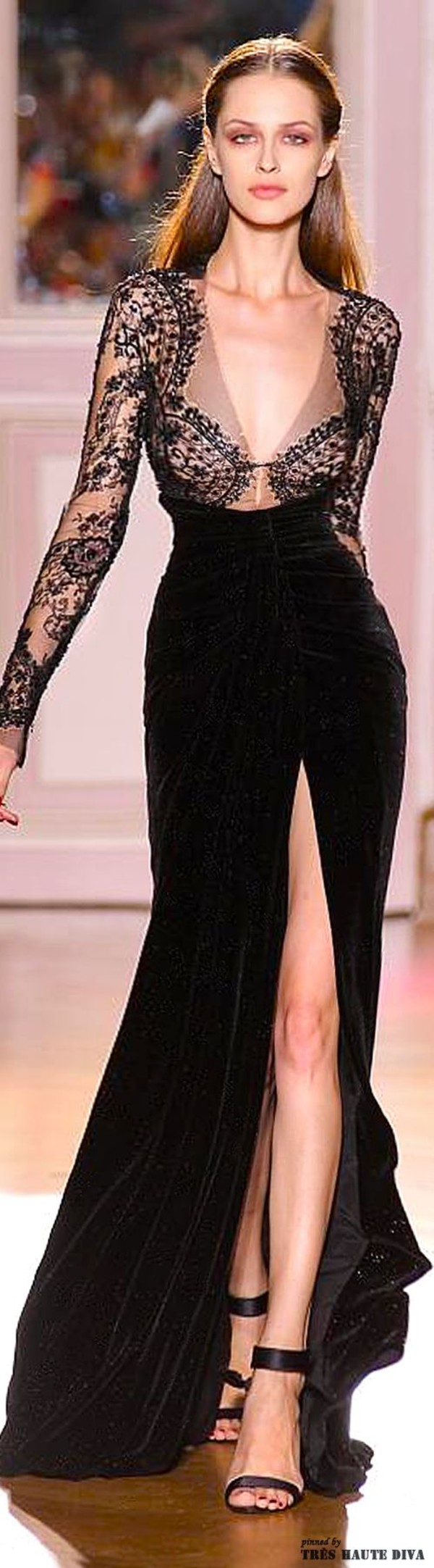 black dress gown