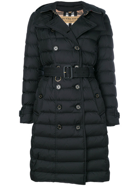 Burberry coat women black