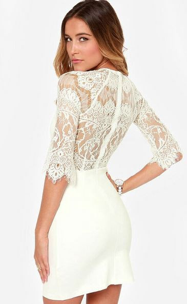 Cece Lace Back Dress