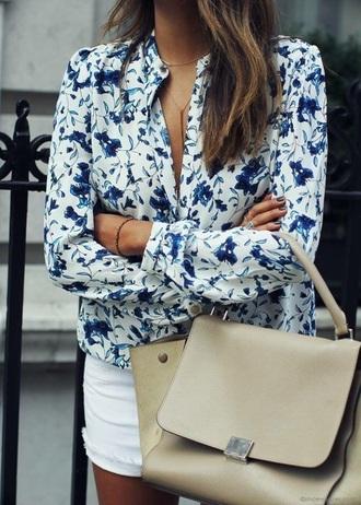 shirt floral shirt blue shirt summer shirt