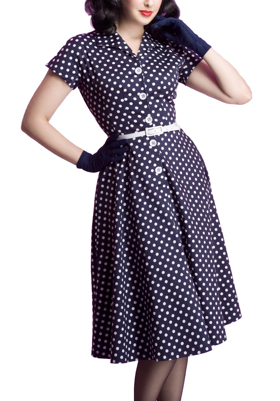 Vintage Everything Glam Polka Dots Rockabilly Dress | ReoRia
