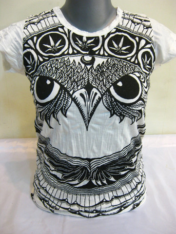 Weed Owl Womens T-Shirts