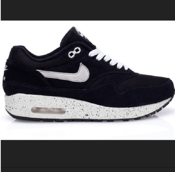 shoes nike air max air max black white guys girl nike air max 1 blackb&white shoes nike air max 1