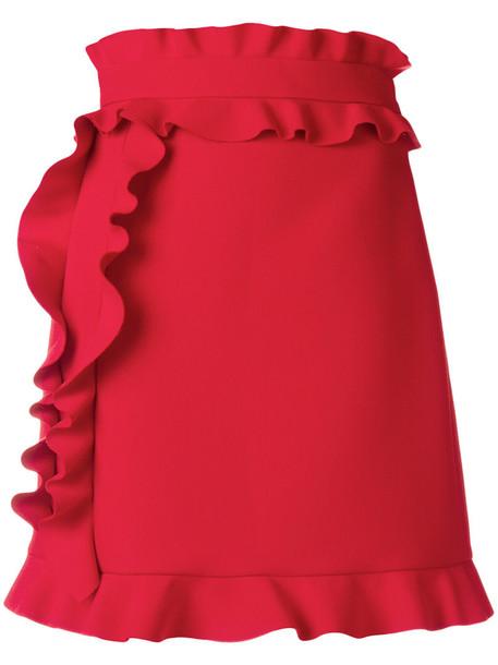 MSGM skirt mini skirt mini women spandex red