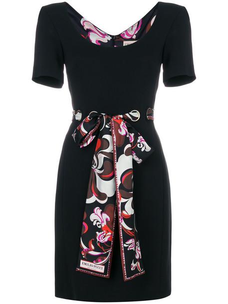 Emilio Pucci dress mini dress mini women spandex black silk