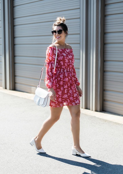 life & messy hair blogger dress shoes bag sunglasses summer dress mini dress white bag shoulder bag pumps mid heel pumps