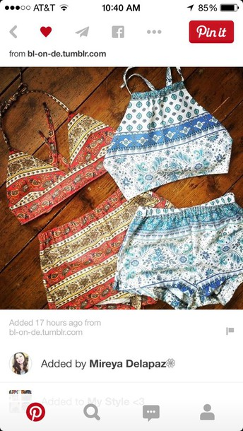 swimwear two-piece swimwear boho bikini boho underwear