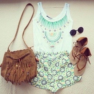 shirt tank top dreamcatcher flower shorts bag indie indie bag shorts shoes