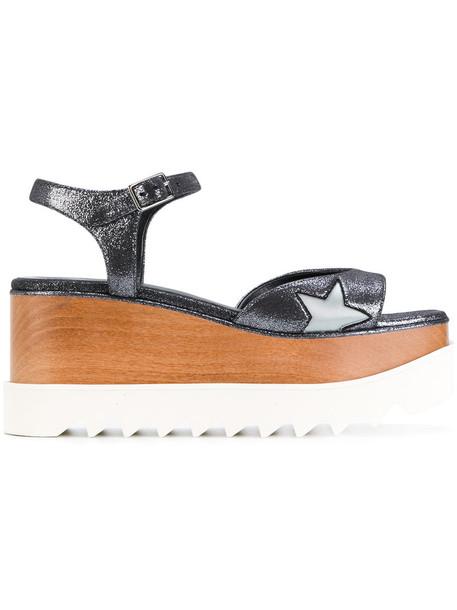 Stella McCartney women sandals platform sandals grey metallic shoes