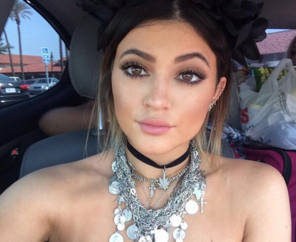 necklace kylie jenner silver necklace make-up boho jewelry