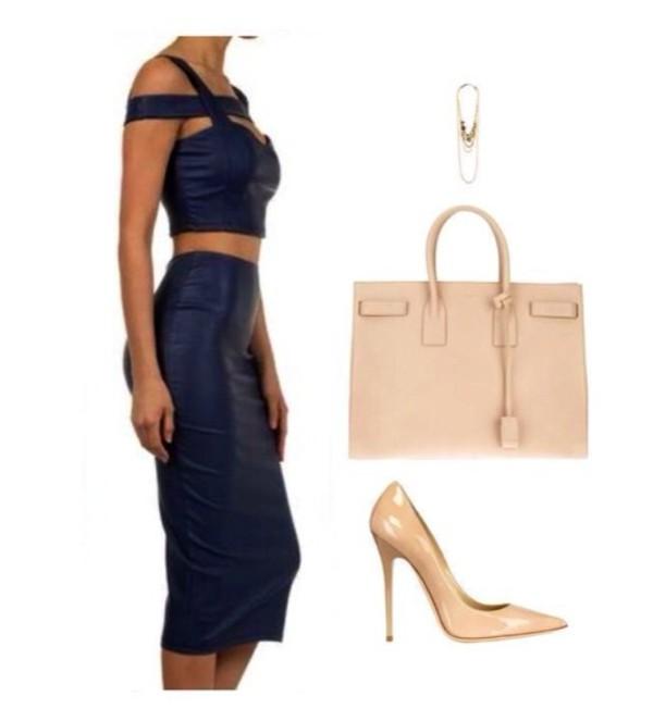 dress body blue dress navy