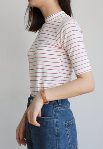 t-shirt horizontal stripe striped shirt