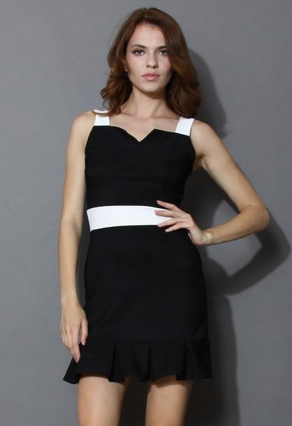 chicwish sweet heart flare dress