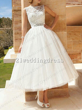 dress wedding dress lace wedding dresses lace top wedding dress tea length wedding dress beach wedding dresses