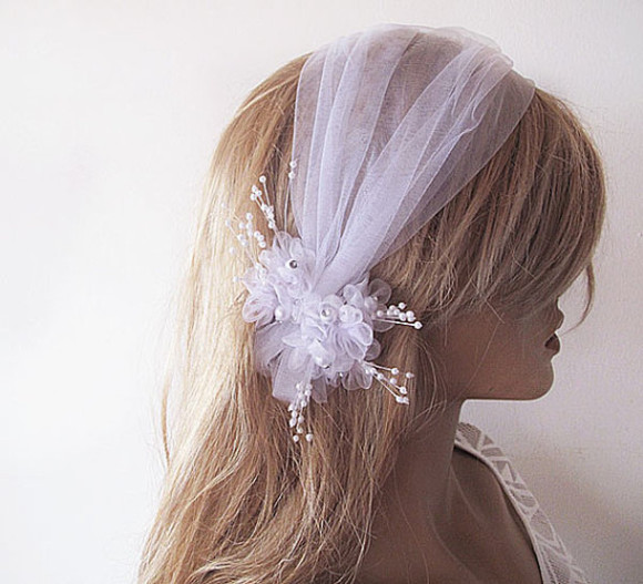 wedding dress flower flower headband hair accessory wedding veil wedding hair accessory