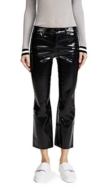J BRAND pants cropped pants cropped leather black black leather