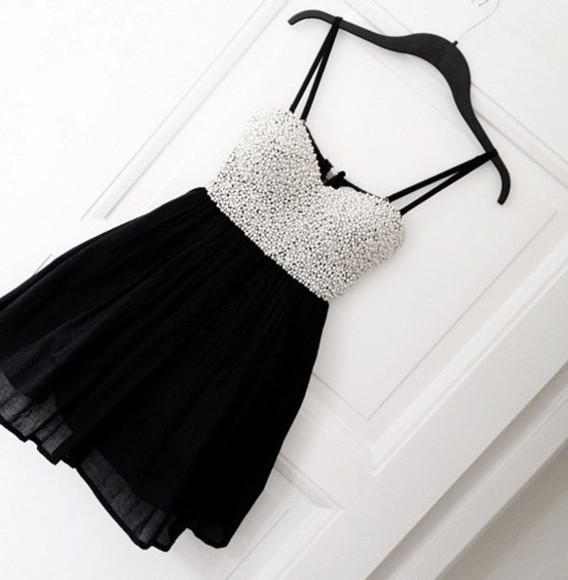 dress sparkling dress pearl little black dress sparkle dress formal dress dress#pearl