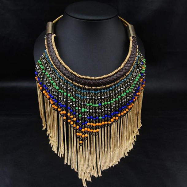 jewels lookbook store www.ebonylace.net tribal necklace ethnic necklace