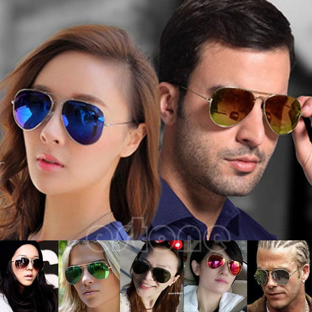 06f16b114b Unisex Women Men Vintage Retro Fashion Aviator Mirror Lens ...