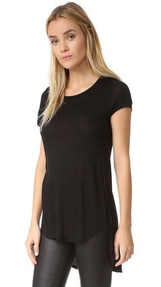 high slit noir black top