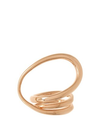 ring gold pink jewels