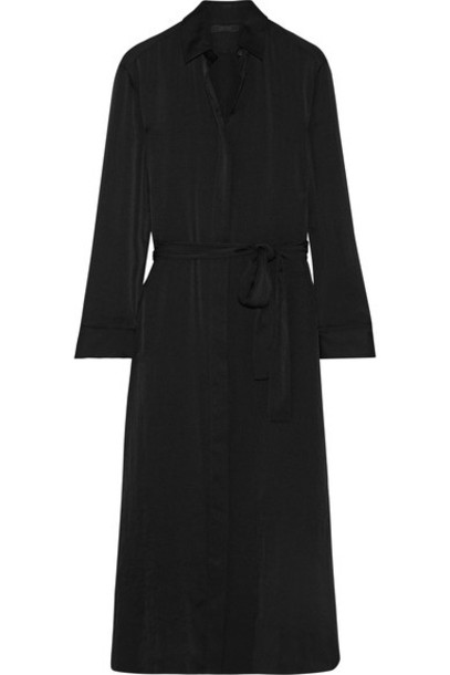 The Row - Camisea Charmeuse Shirt Dress - Black