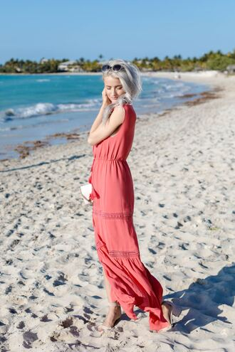 dress vacation outfits tumblr maxi dress long dress red dress sleeveless sleeveless dress