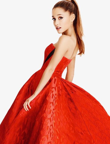 Dress: red and black, ariana grande dress, prom dress, long prom ...