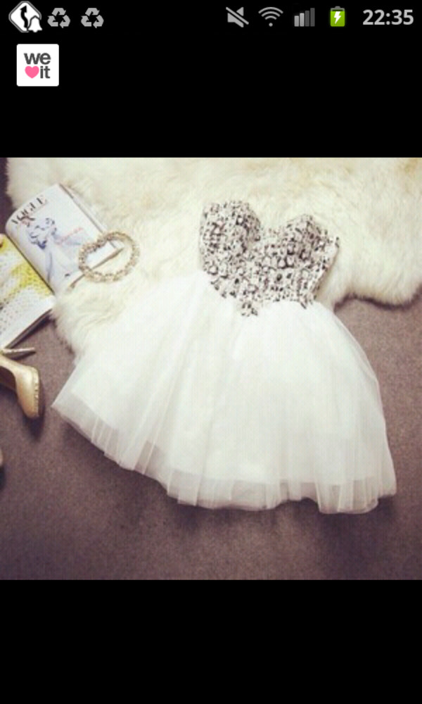 robe blanche strass strass paillettes l white dress prom dress dress