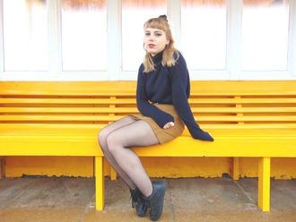 the velvet black grunge blogger sweater skirt