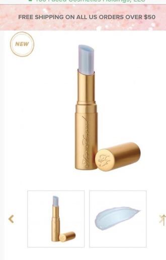 make-up lips too faced mermaid lisptick