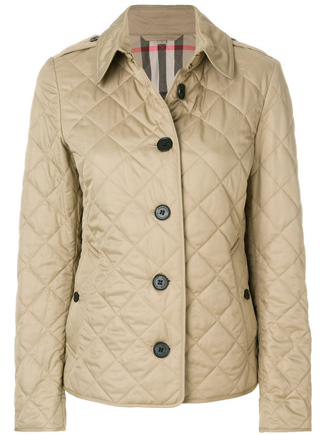 Burberry jacket women quilted nude cotton