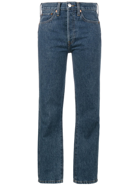 Re/Done jeans women cotton blue