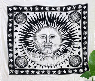 home accessory sun tapestry wall hanging home decor christmas white sun living room bedroom bedding throw blanket beach towel doormat meditation